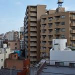 Вид с балкона отеля в Асакусе, Токио