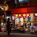 Торговая улочка ночью