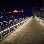 Вид с моста ночью