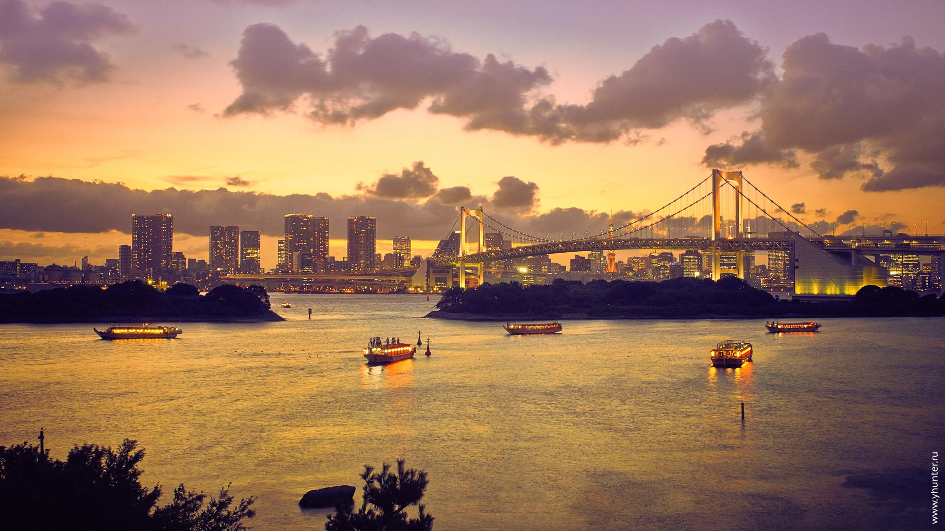 Токийский залив с о. Одайба